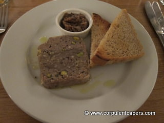 Wood Pigeon, pork & pistachio terrine