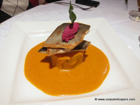 tiffin sea bass Purple Poppadom, Cardiff