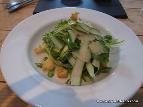 Wye Valley Asparagus Salad at Y Polyn