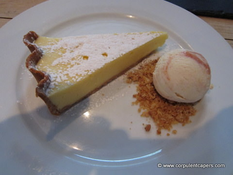 Lemon Tart with Ice Cream