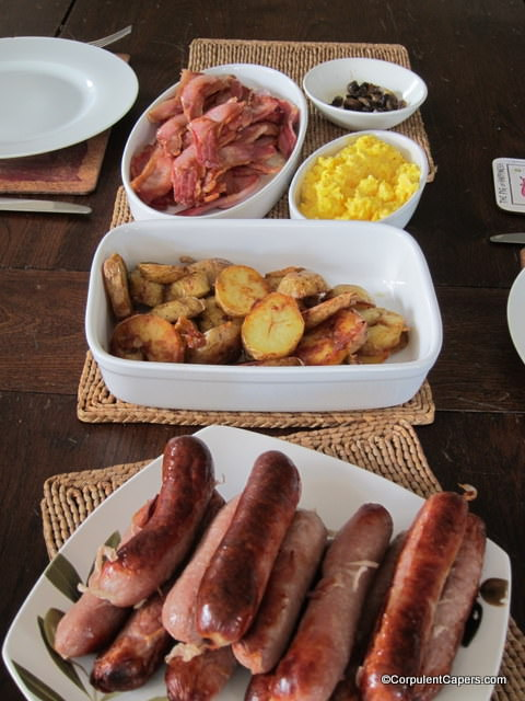 Brunch of Nant Du Pork Sausages and Bacon