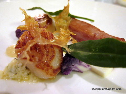 05 scallop Llansantffraed Court Hotel   Back On The Culinary Map