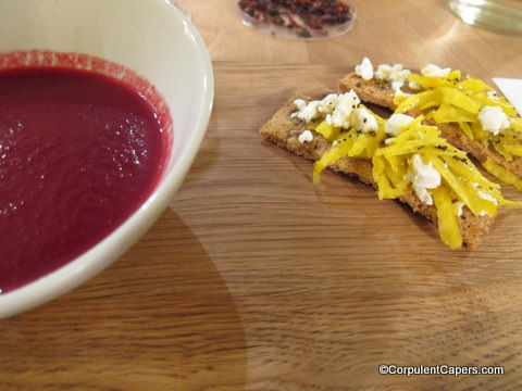 Picture of organic beetroot and ginger soup