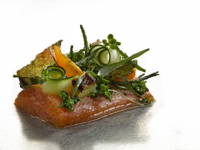 Marinated Trout, Pickled Samphire & Dashi Crisp - Is your mouth watering yet?