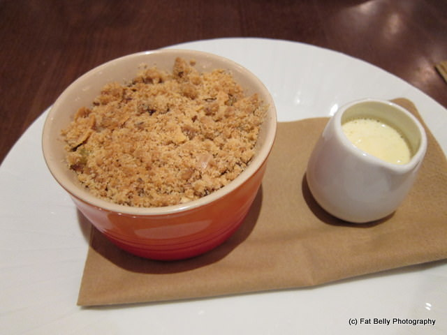 apple cherry crumble Zest at the Cardiff Marriot with River Cottage