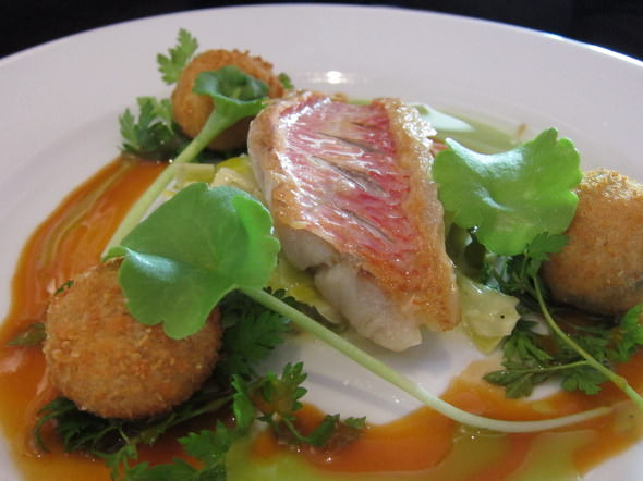 Picture of pan roasted red mullet