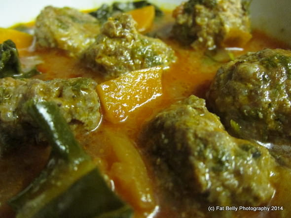 Corpulent Capers: Spicy Meatball Soup