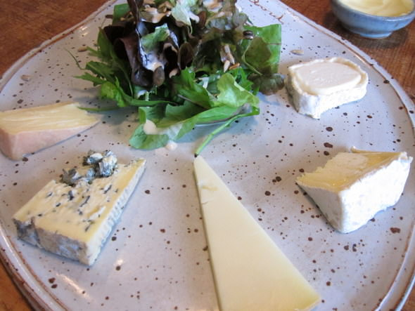 Corpulent Capers: Plateau Fromage - Cheese Plate - 2 local (Neal's Yard) and 3 French cheeses.