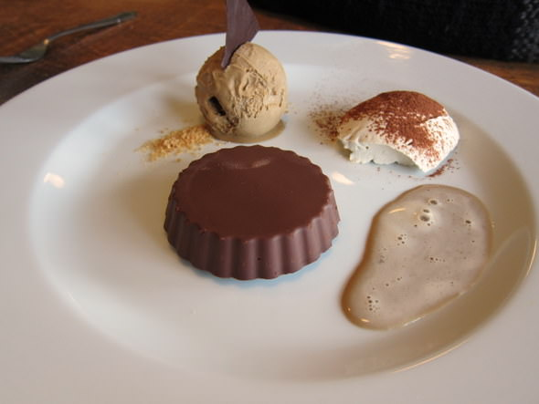 Corpulent Capers: Marquise au chocolat - Chocolate Marquise with coffee mascapone cream and coffee ice cream