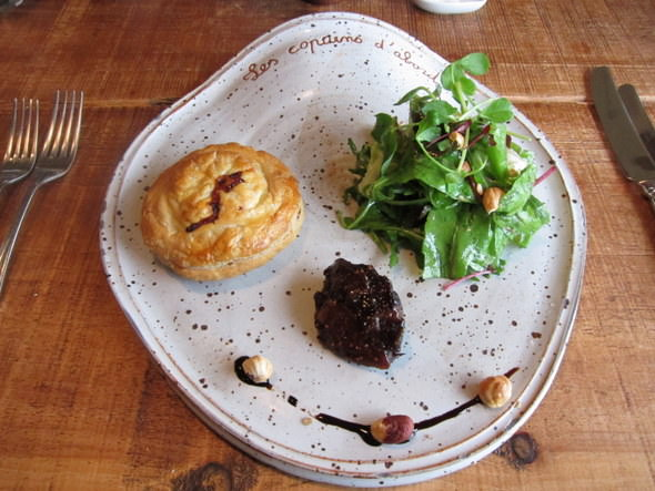 Corpulent Capers: Pithivier au faisant et figues - Pheasant and fig paté in puff pastry.