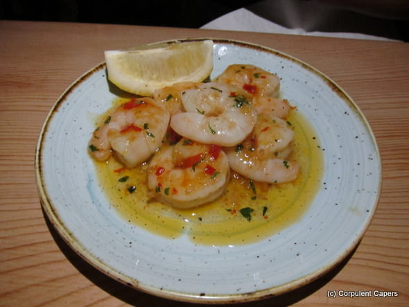 Garlic & chilli tiger prawns